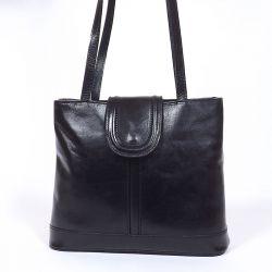 Vera Pelle női bőr divattáska fekete színű