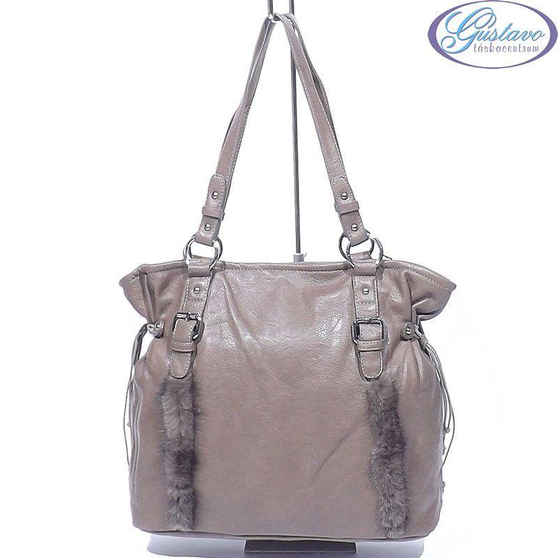 d9be0cab3b Műbőr női táska barna színű