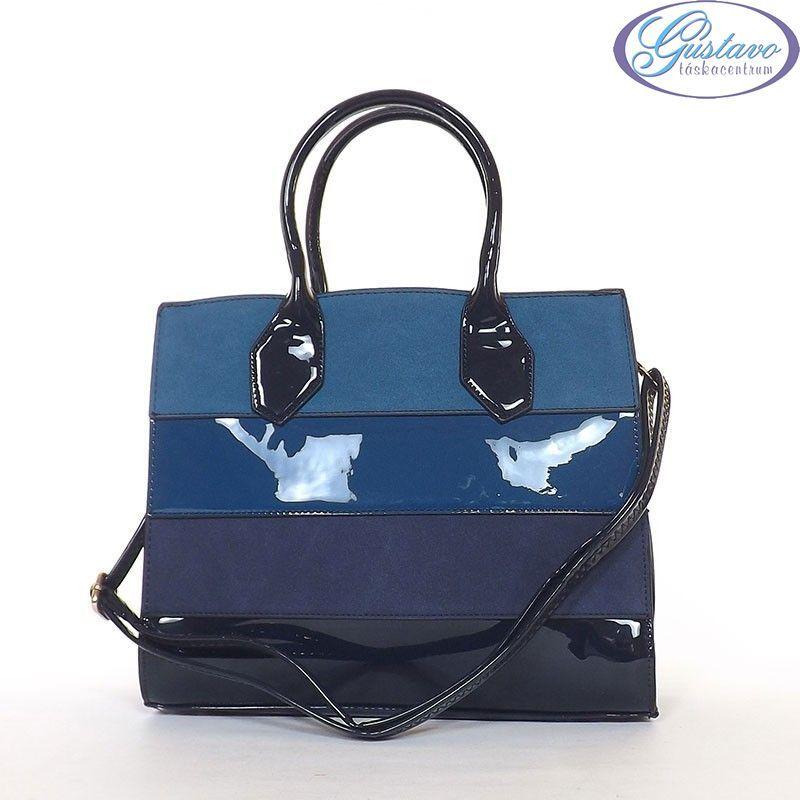 SARA MODA női divattáska kék csíkos df9cbd15d2