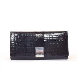 SHAISHI női lakkbőr pénztárca fekete színű