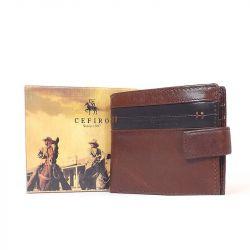 CEFIRO bőr férfi pénztárca barna-fekete színű
