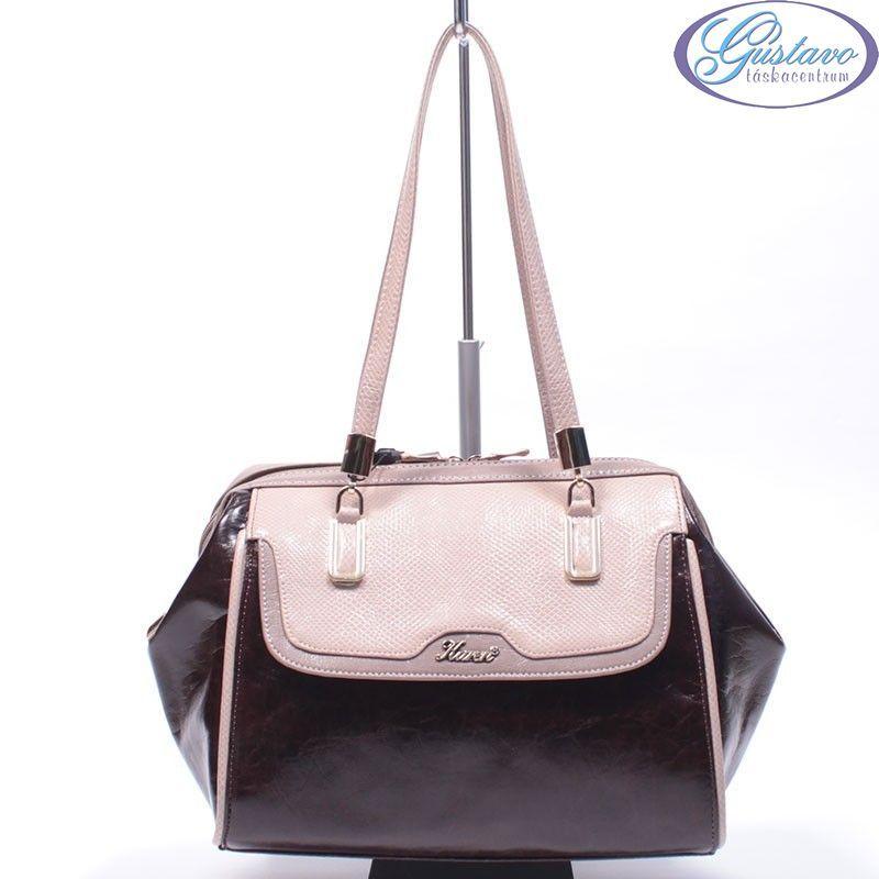 KAREN rostbőr női táska barna - bézs színű 185a565753