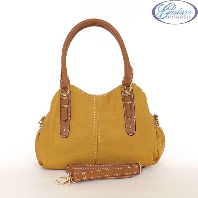 b3e814c3bb JUST GLAMOUR női divattáska sárga-barna színű