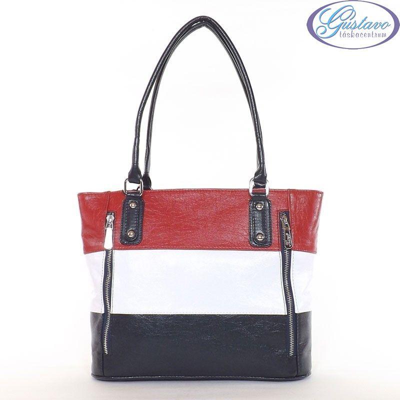 c2c6412bf8 KAREN rostbőr női táska kék-fehér-piros színű