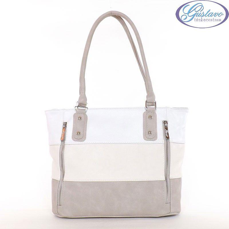 KAREN rostbőr női táska drapp-bézs-fehér színű 9c824d60fb