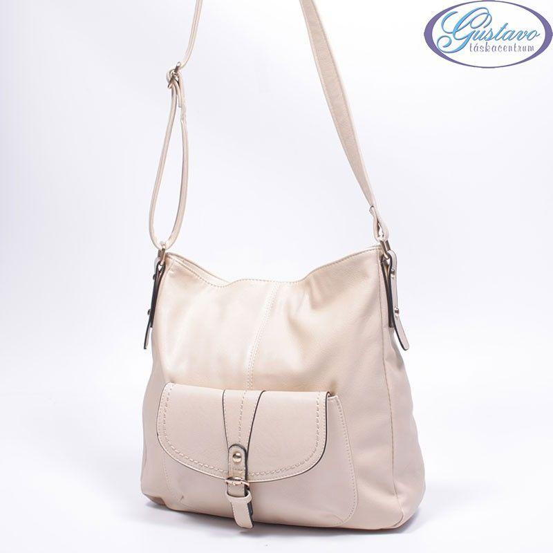 Műbőr női táska bézs színű 6c99f25854