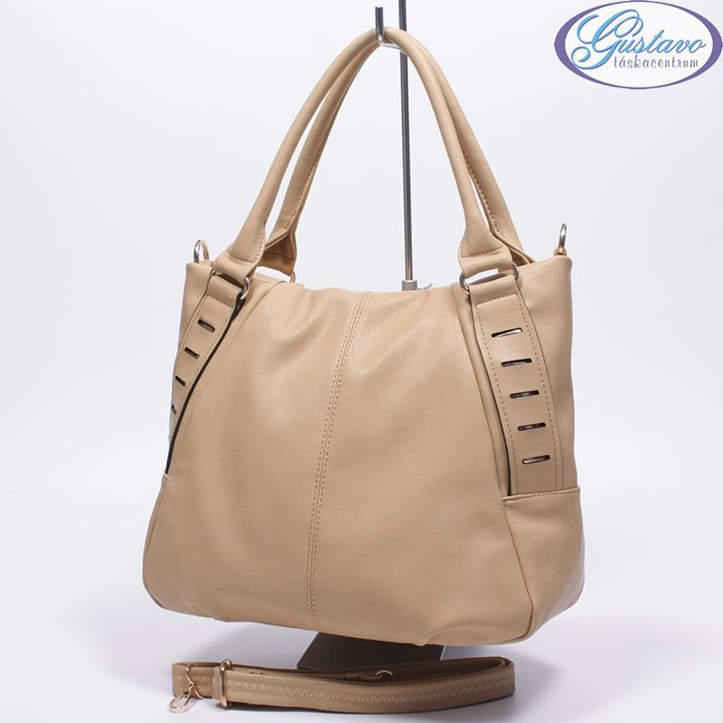 2ce902d0f5 Műbőr női táska apricot színű