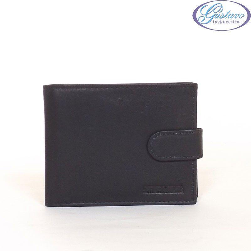 LA SCALA férfi bőr pénztárca fekete színű