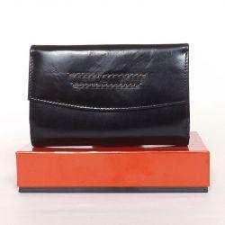 BY LUPO női bőr pénztárca fekete színű