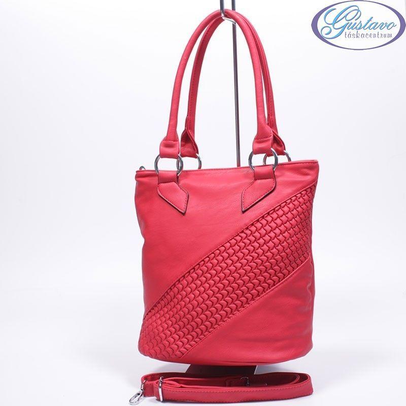 Műbőr női táska piros 72a220e9bb