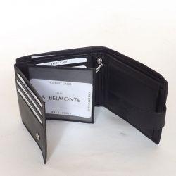 S. Belmonte bőr férfi pénztárca fekete színű