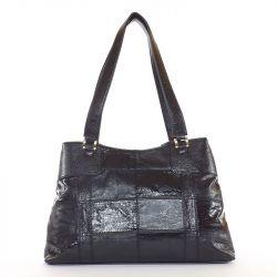 KAREN rostbőr női táska fekete színű