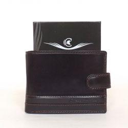 CORVO BIANCO férfi bőr pénztárca sötétbarna színű