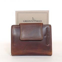 GREEN DEED bőr női pénztárca barna színű