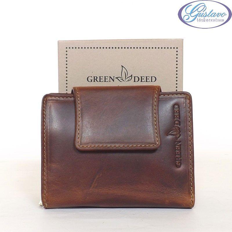 4168b4287dac GREEN DEED bőr női pénztárca barna színű