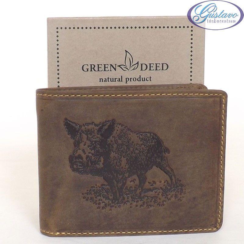 GREEN DEED bőr férfi pénztárca barna színű vaddisznó mintás 8c5e22f03b