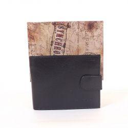 SYNCHRONY bőr férfi pénztárca fekete színű