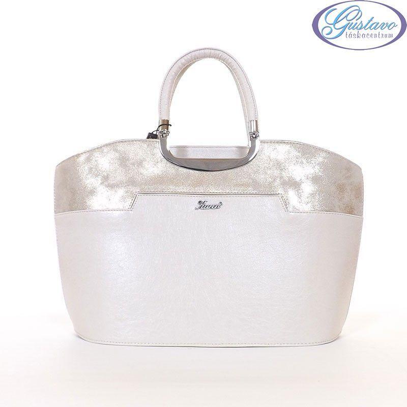 KAREN rostbőr női táska bézs - arany színű 187f8cbe61