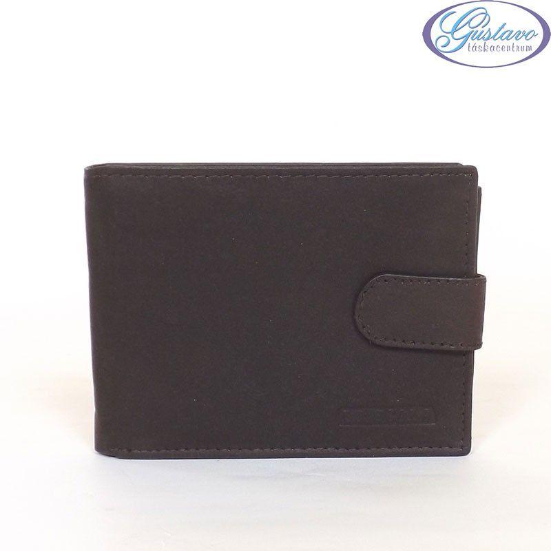 LA SCALA férfi bőr pénztárca barna színű