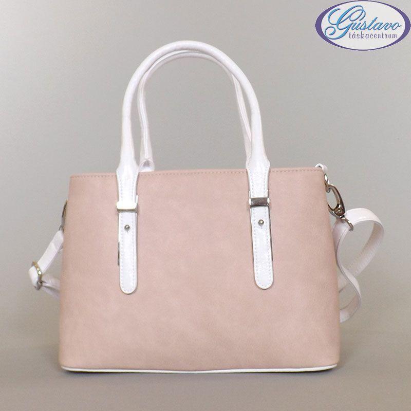 KAREN rostbőr női divattáska púder színű anyagból készült. A táska fogója 2796ade3e3