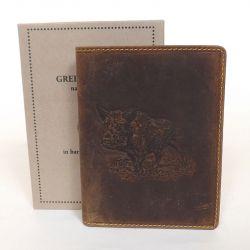 GREEN DEED bőr férfi pénztárca barna színű