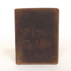 GREEN DEED bőr férfi irattartó barna színű vaddisznó mintás 06ab375ea4