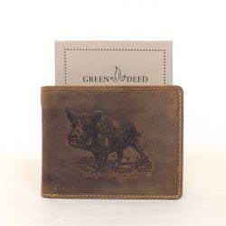 GREEN DEED bőr férfi pénztárca barna színű vaddisznó mintás