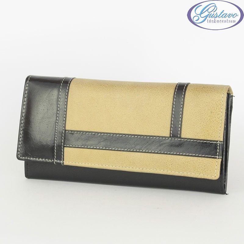BY LUPO női bőr pénztárca fekete-barna 6f1ab2a6d1
