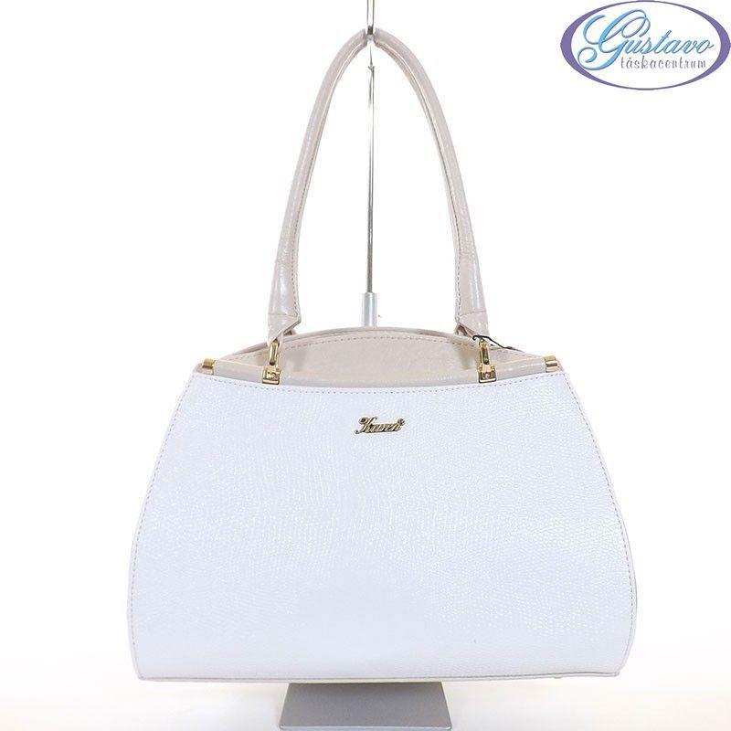 KAREN rostbőr női táska fehér - bézs színű 50020481a6