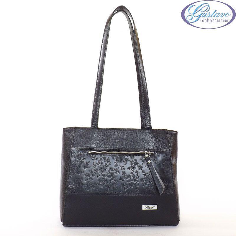 KAREN rostbőr női táska fekete virágmintás színű