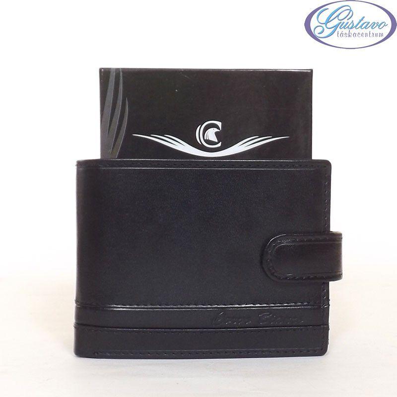CORVO BIANCO férfi bőr pénztárca fekete színű