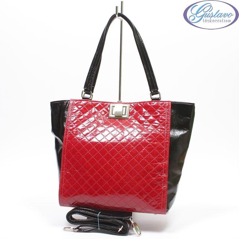 KAREN rostbőr női táska piros -fekete a865fd67ba