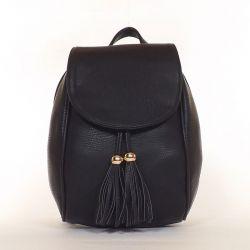 SILVIA ROSA műbőr női hátitáska fekete színű