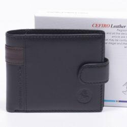 376fb26103 CEFIRO bőr férfi pénztárca fekete színű