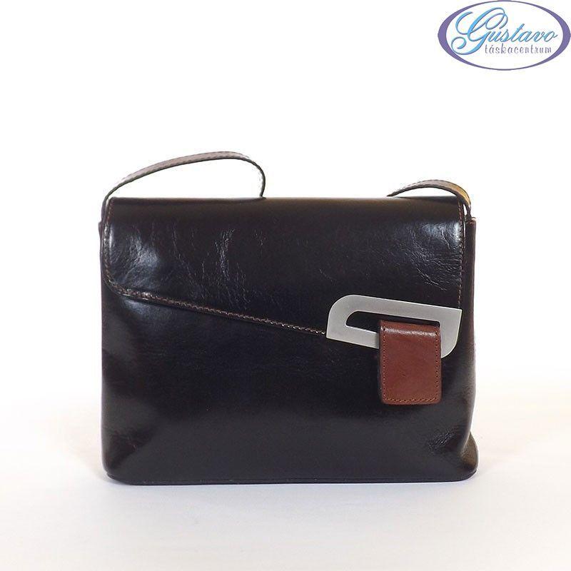 Női Olasz bőr táska fekete - barna színű 9e0c592109