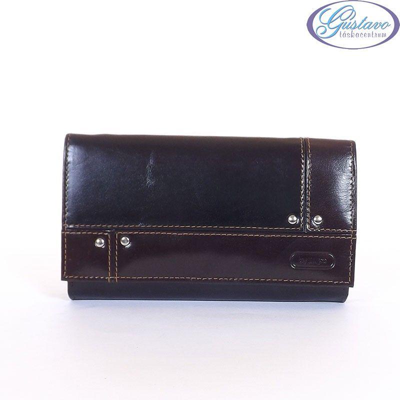 BY LUPO női bőr pénztárca fekete-barna