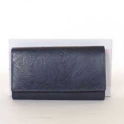 Női bőr pénztárca kék színű...