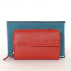 Női bőr pénztárca piros színű
