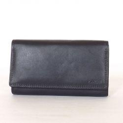Női bőr pénztárca fekete színű