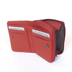 ANGELA MORETTi női lakkbőr pénztárca piros színű
