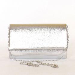 Női alkalmi táska ezüst színű