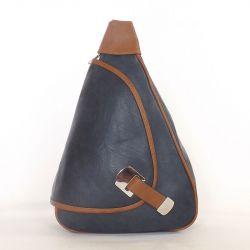 Női hátitáska kék-barna színű
