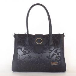 NŐI bőr táska fekete színű
