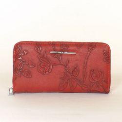 Női pénztárca bordó színű