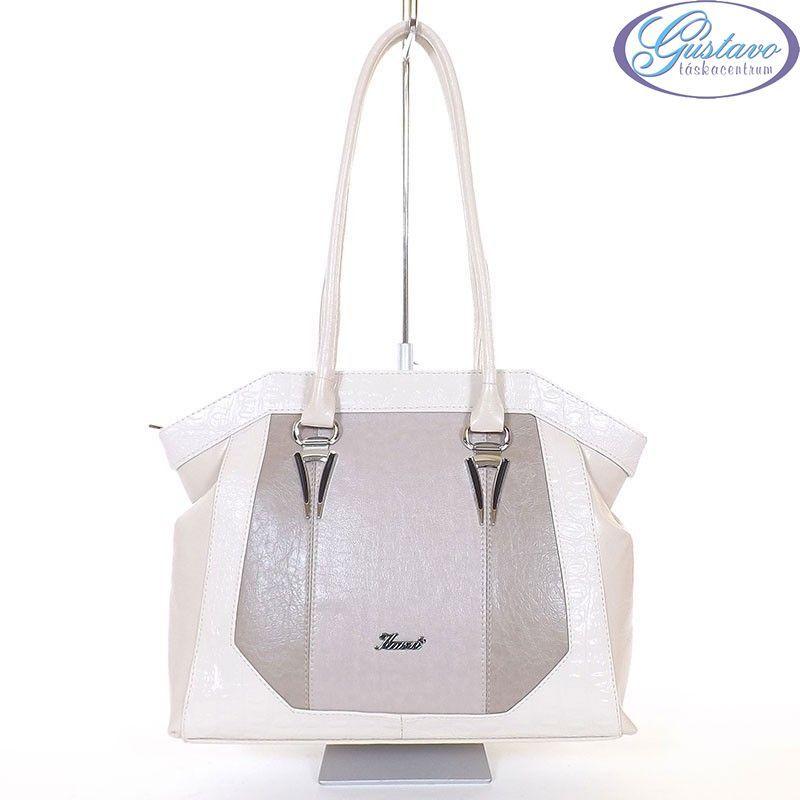f06c82dc2c KAREN rostbőr női táska bézs - kapucsínó színű